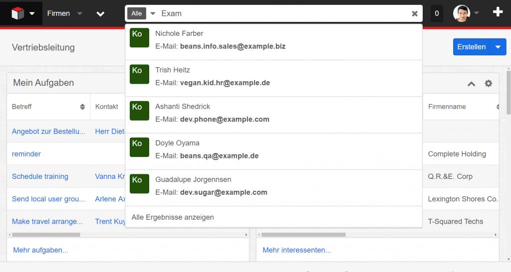 SugarCRM_Enterprise_Suche