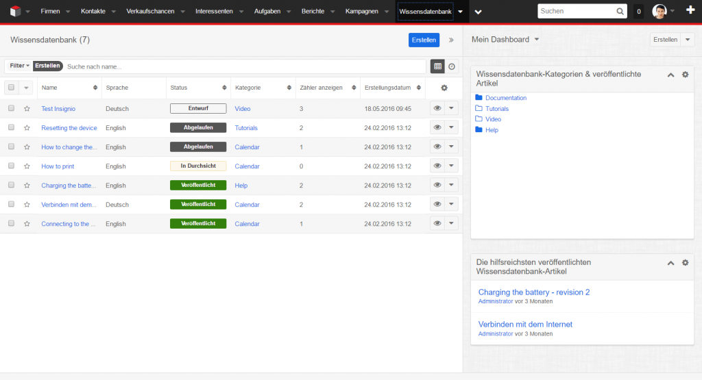 SugarCRM_Knowledgebase